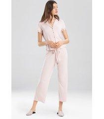bardot essentials- josie jammie pajamas, women's, pink, size l natori