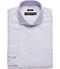 pronto uomo lilac patterned modern fit dress shirt