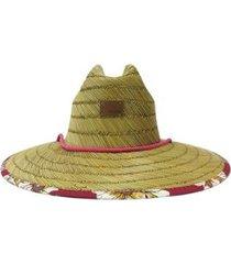 chapéu de palha roxy tomboy printed
