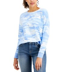 style & co printed crewneck sweatshirt, created for macy's