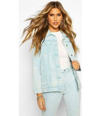 acid wash oversized jean jacket, blue