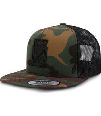 gorra atlético nacional oficial edición limitada premium flexfit 6006w camo verde