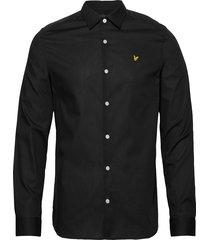 ls slim fit poplin shirt skjorta casual svart lyle & scott