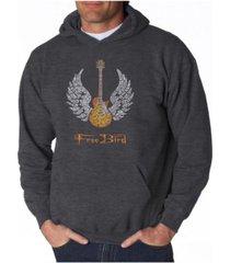 la pop art men's word art hoodie - lyrics to freebird