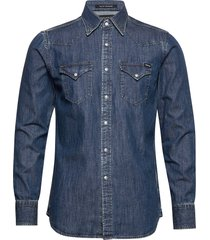 shirt overhemd casual blauw replay