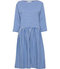 bretagne organic dualla jurk knielengte blauw mads nørgaard