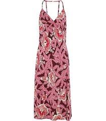 allianna floral-print silk dress