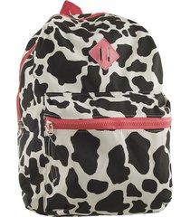 mochila negra bohemia escolar con tiras regulables
