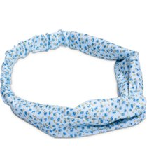 twelvenyc blue floral top knot soft headband