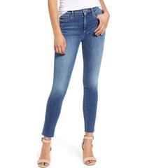 women's mother 'the looker' frayed ankle jeans