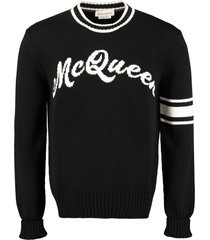 alexander mcqueen cotton crew-neck sweater
