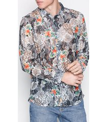 topman floral lace shirt skjortor black