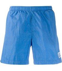 c.p. company mesh-lined swim shorts - blue