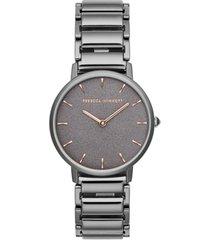 rebecca minkoff women's major gunmetal gray stainless steel bracelet watch 35mm
