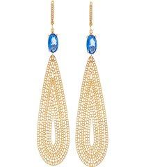 brinco kumbayá joias longo azul