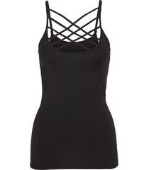top con spalline sottili (nero) - bodyflirt boutique