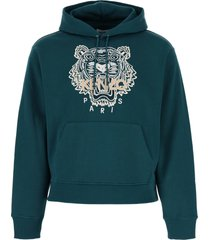 kenzo tiger embroidery hoodie
