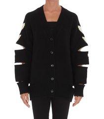 back logo cardigan jacket