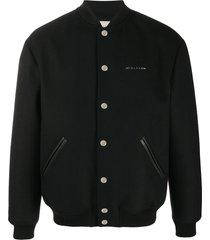 1017 alyx 9sm felt bomber jacket - black