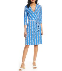 women's leota print jersey faux wrap dress