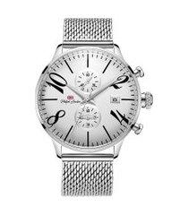 relógio cronógrafo philiph london masculino - pl80024623m prateado