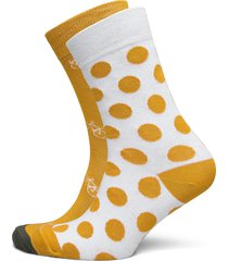 socks sigtuna 2-pack bike pattern and dots golden yellow underwear socks regular socks gul dedicated