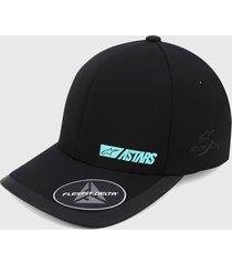 gorra negro-azul alpinestars micron delta