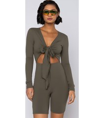 akira snatched tie front romper