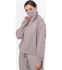 bam by betsy & adam crewneck sweater with built-in mask, created for macy's
