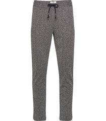 akjohn elastic pants casual broek vrijetijdsbroek zwart anerkjendt