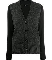 mm6 maison margiela layered vest jumper - black