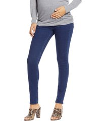 isabella oliver over the belly maternity skinny jeans, size 4 in indigo at nordstrom