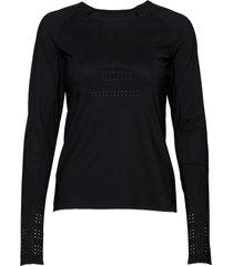 ventilation long sleeve t-shirts & tops long-sleeved zwart casall