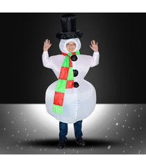 inflatable christmas snowman costume adults cosplay suit funny party air blowing