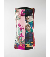 salvatore ferragamo printed front sleeveless top