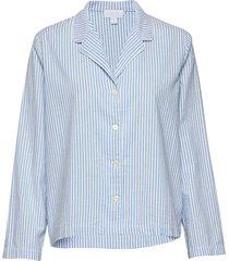 pajama shirt in poplin top blå gap