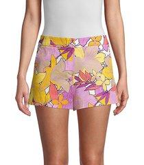 trina turk women's corbin floral shorts - pink - size 10