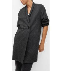 mango women's wool double-breasted coat