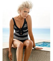 pace underwire stripe one-piece swimsuit
