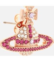 vivienne westwood women's kika earrings - pink gold crystal fuchsia violet