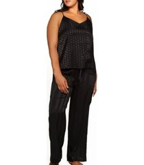 plus size delphine circle cami and striped pant, set of 2