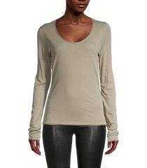 rag & bone women's the gaia cotton t-shirt - aged sage - size xs