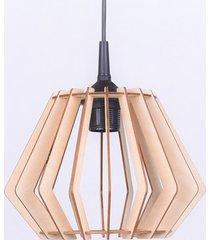 plafon abażur lampa led sufitowa drewniana salon