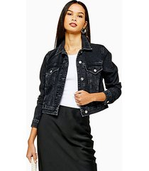 black denim jacket - washed black