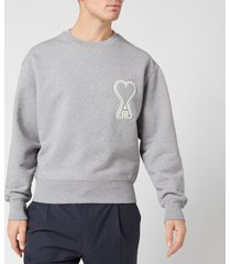 ami men's de coeur sweatshirt - heather grey - xl
