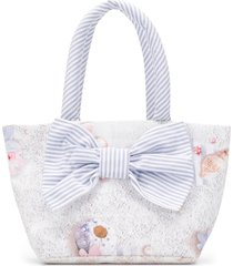 lapin house bow detail tote bag - neutrals