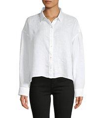 boxy linen shirt