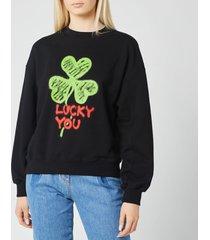 philosophy di lorenzo serafini women's lucky you sweatshirt - black - l