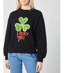 philosophy di lorenzo serafini women's lucky you sweatshirt - black - l