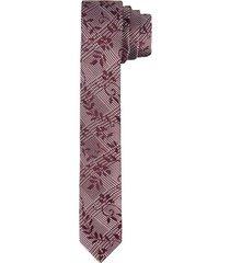corbata pala angosta en seda diseño textura para hombre 99643